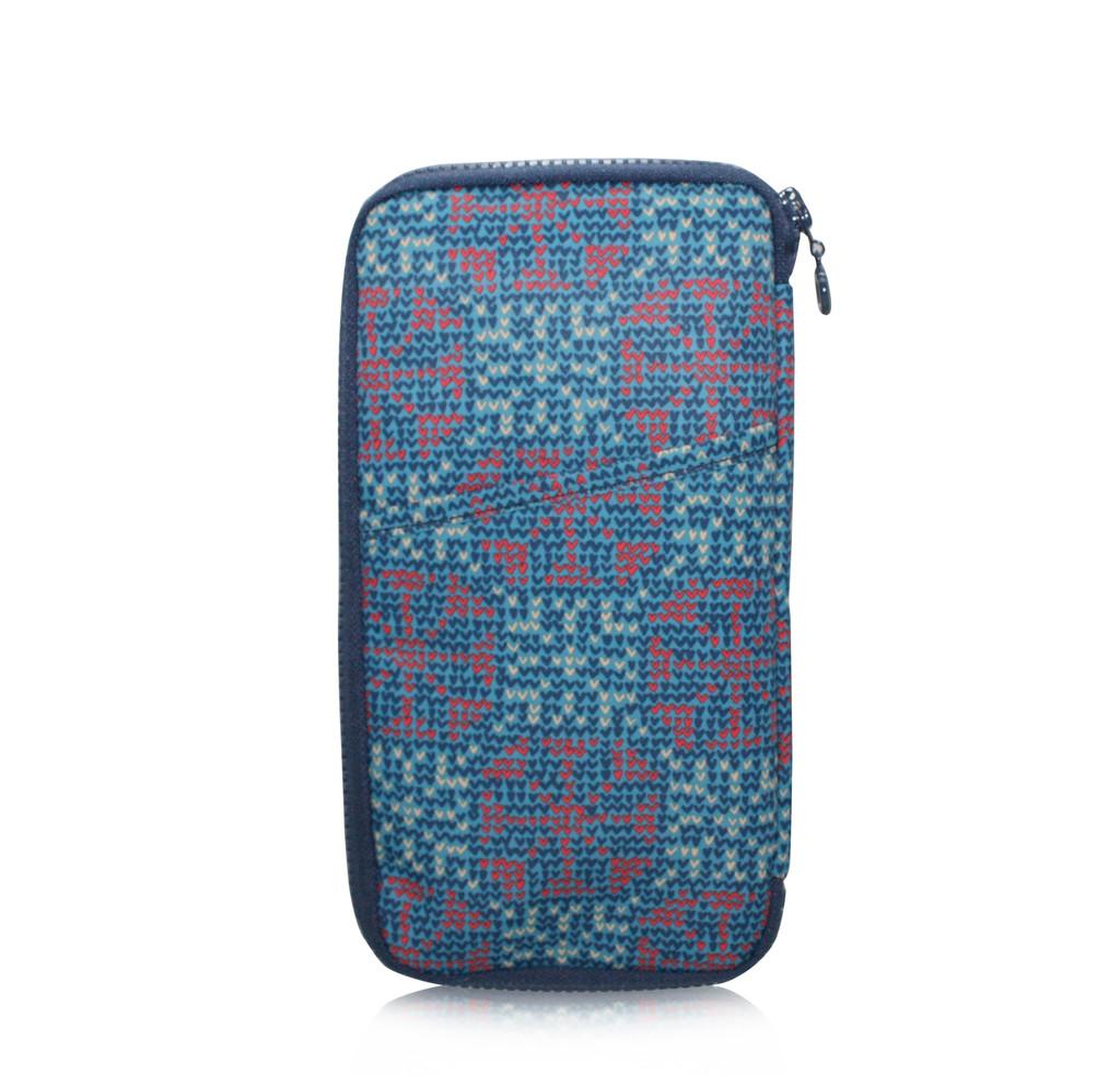 Travel Wallet - Nordic Tale - Blue
