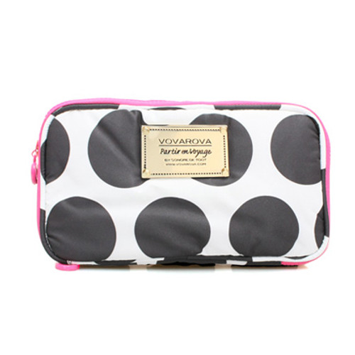 Compact Brush Case - Polka Dot - Black/White