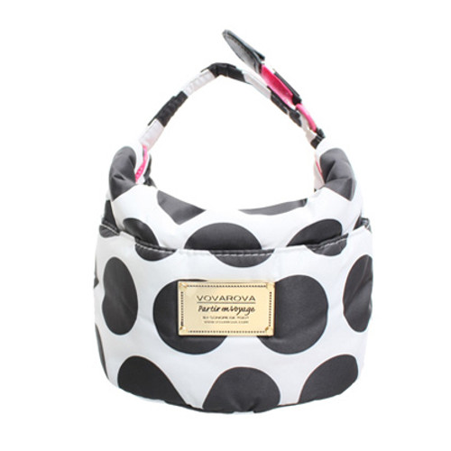 Cutie Lunch Out Sac - Polka Dot - Black/White