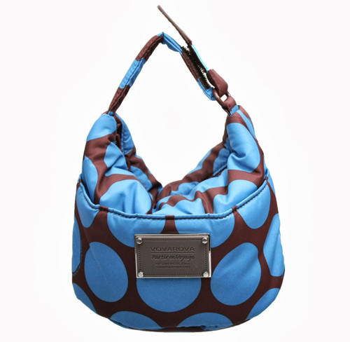 Cutie Lunch Out Sac - Polka Dot - Chocolate/Blue