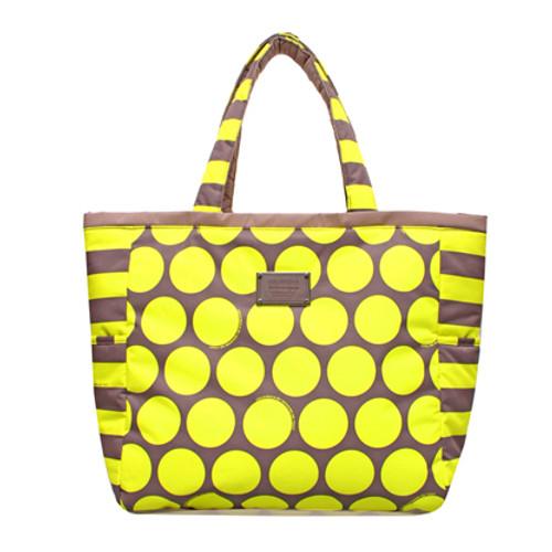 Reversible Tote - Polka Dot - Yellow/Brown