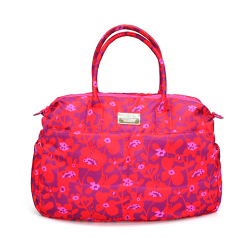 Boston Bag - Liana Floral - Hot Orange