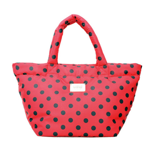 Small Tote - Dotty - Red/Black