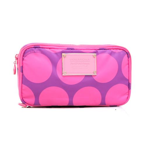 Compact Brush Case - Polka Dot - Pink/Purple