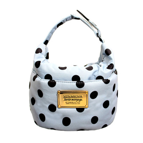 Cutie Lunch Out Sac - Dotty - Grey/Black