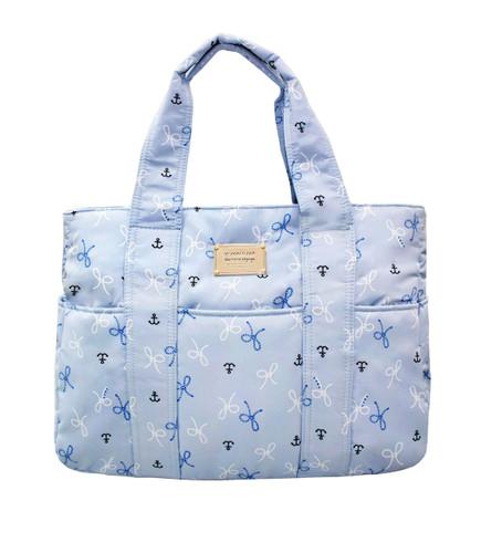 Carryall Tote Bag - Petite Knots - LT. Blue