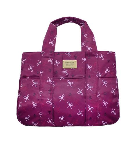 Carryall Tote Bag - Petite Knots - Bordeaux