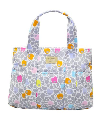 Carryall Tote Bag - Camo Petals - Grey
