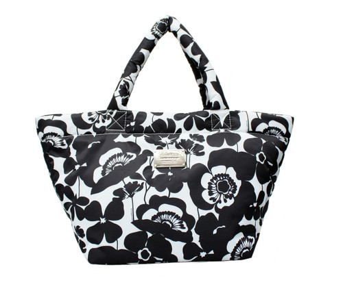 Small Tote - Flower Blossom - Black White