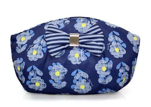Bow Ribbon Pouch - Little Secret Garden Blue