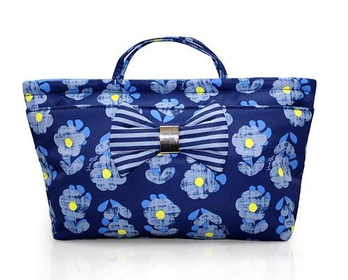 Bow Ribbon Bag-in-bag - Little Secret Garden Blue