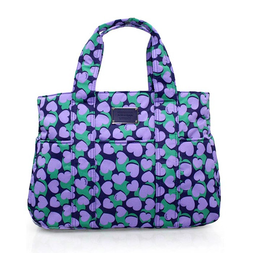 Carryall Tote - Lavender Hearts