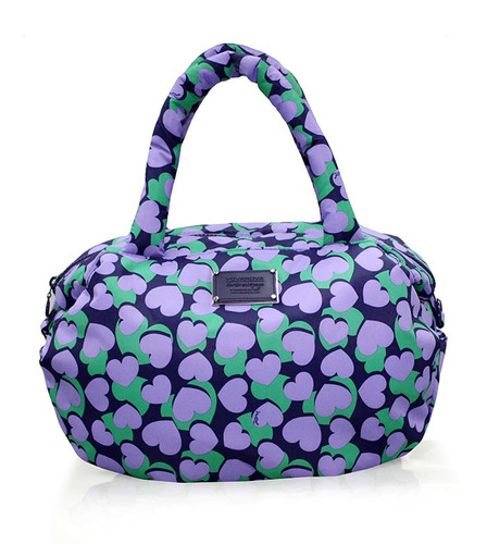 3-way Shoulder Tote - Lavender Hearts