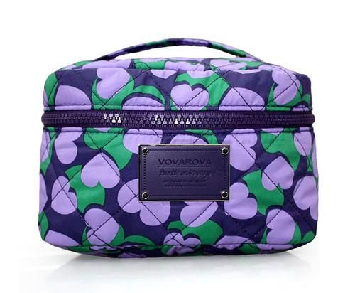 Vanity Case - Lavender Hearts
