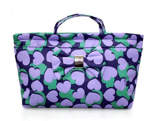 Bow Ribbon Bag-in-bag - Lavender Hearts