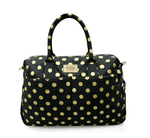Boston Bag - Golden Dotty