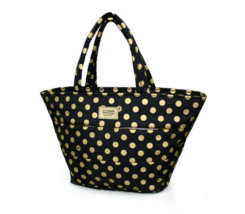 Padded Tote - Golden Dotty