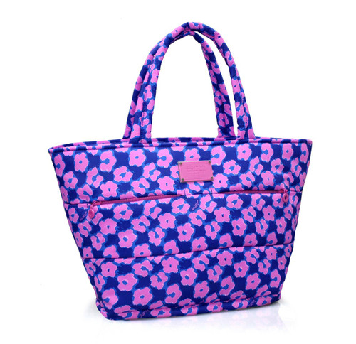 Padded Tote - Leopard Illusion - Pink