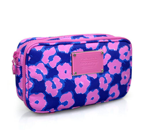 Compact Brush Case - Leopard Illusion - Pink