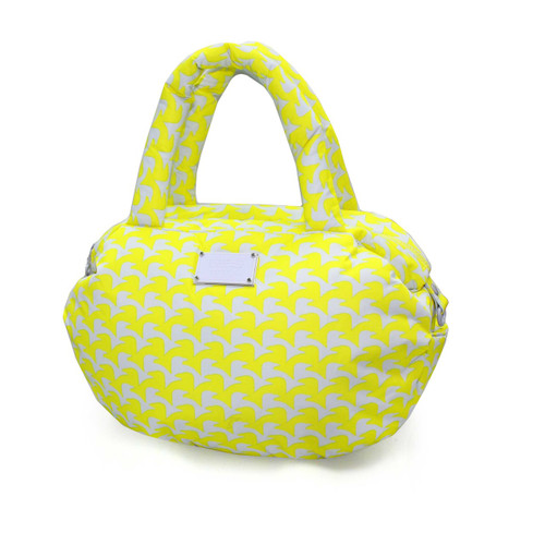 3-way Shoulder Tote - Checker in Vogue - Yellow