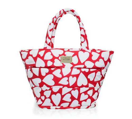 Padded Tote - Endless Love - Red