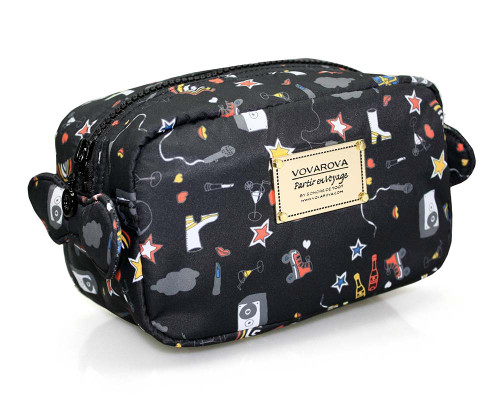 Travel Cosmetics Pouch With Ribbon - Rock N Fun