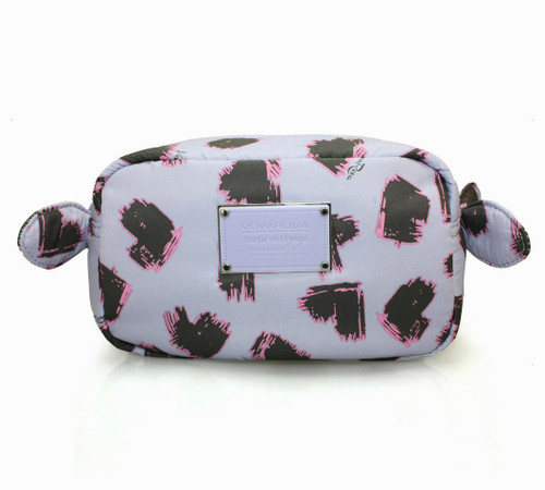 Travel Cosmetics Pouch With Ribbon - SKETCHY LOVE - LAVENDER