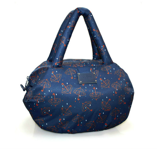 3way Shoulder Tote - Singing in the rain - Blue