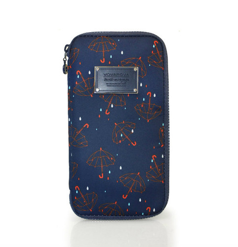 Travel Wallet - Singing in the rain - Blue