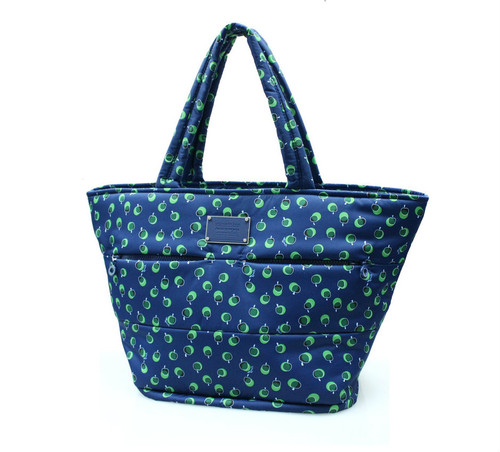 Padded Tote - Dotty Apple - Green