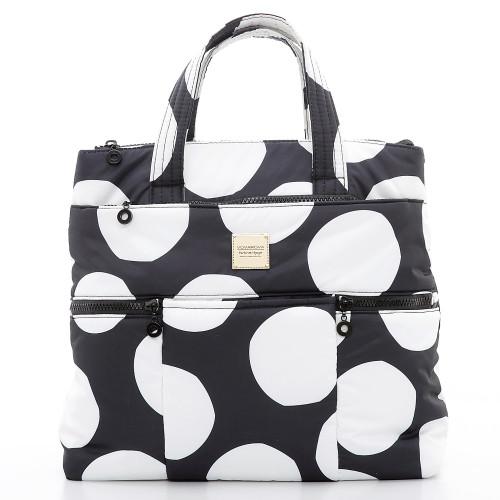 Convertible Satchel / Backpack - Pop Dot - Black & White