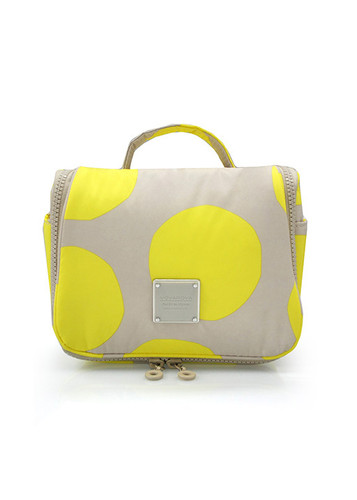 Travel Toiletry Bag - POP DOT Beige Yellow