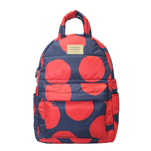 Backpack Medium - POP DOT – Navy Red