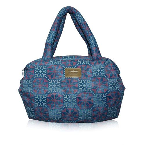 3 Way Shoulder Tote - Nordic Tale - Blue