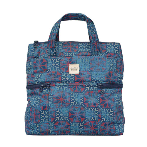Convertible Satchel / Backpack - Nordic tale - Blue
