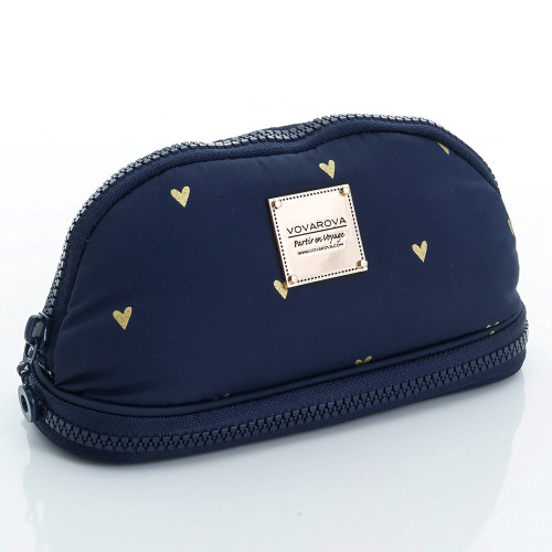 Makeup Pouch - Mini Heart - Blue