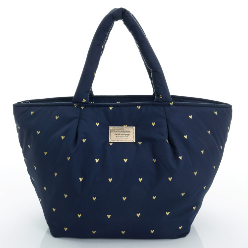 Pleat Tote - Mini Heart - Blue