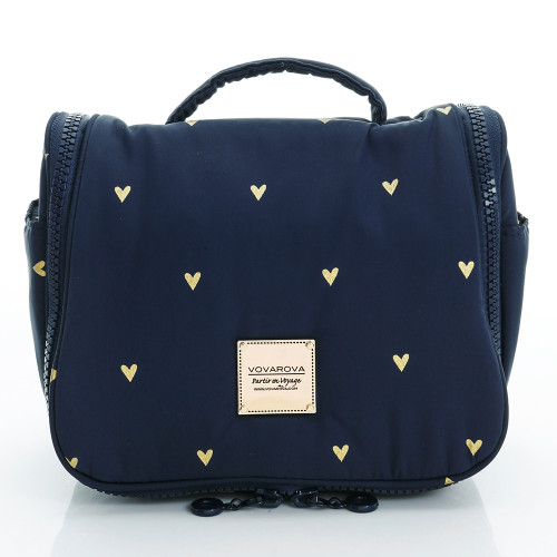 Travel Toiletry Bag - Mini Heart - Blue
