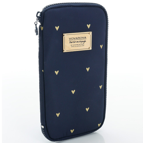 Travel Wallet - Mini Heart - blue