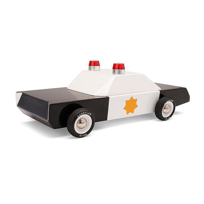 Classic Wooden Police Car Cruiser