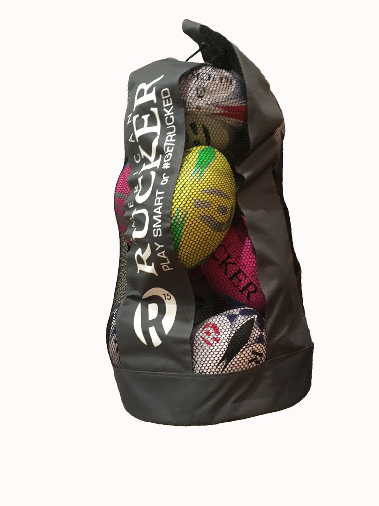 Holds 12 Balls (size 5) with ease. You are buying just the bag. Rugby Ball - Night Ball - Training Ball - Practice Ball - Rugby - Rugby Union - American Rucker