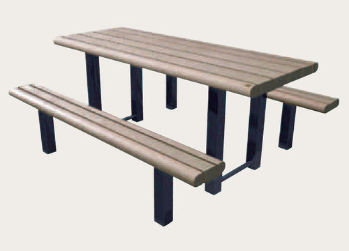 Public Place Picnic Table - Bullnose Profile
