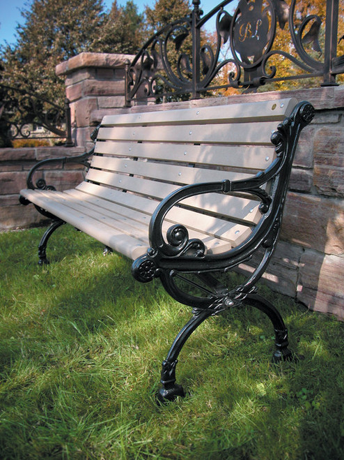 6' Victorian Bench with Backrest with Avantage+ slats