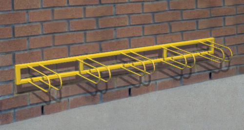 "98"" Stoneham Bike Rack 5 Places - Wall Installation with Avantage+ slats"