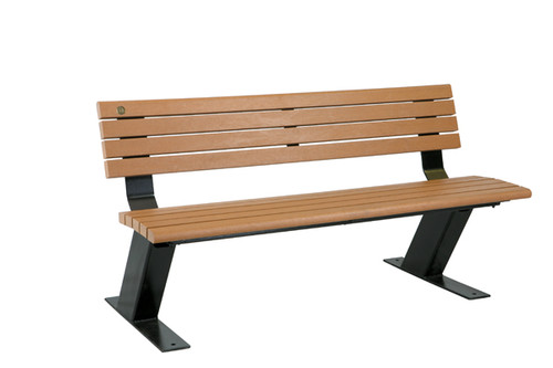 Public Bench with Backrest