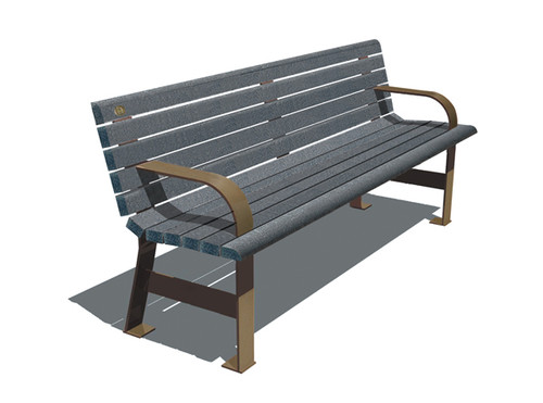 De Verchere Bench with Backrest (and optional armrests)