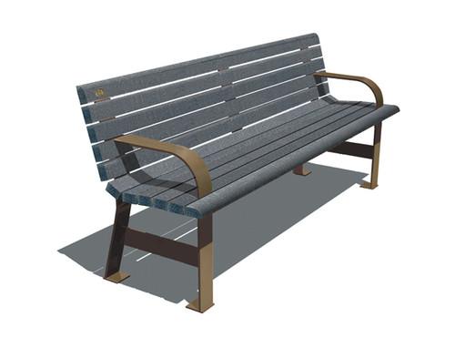 De Verchere Bench with Backrest (and optional armrests)