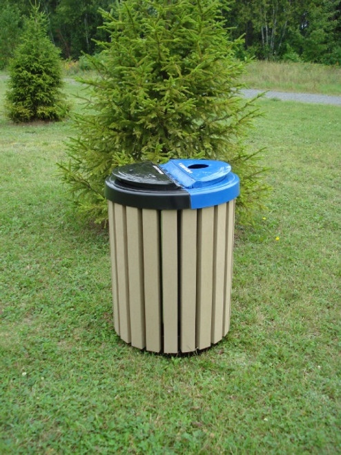 20 Gallon Public Place Series Trash Receptacle with Optional Lid