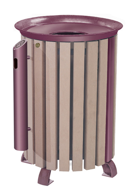 28 Gallon DaVinci Series Trash Receptacle with optional ashtray and cover