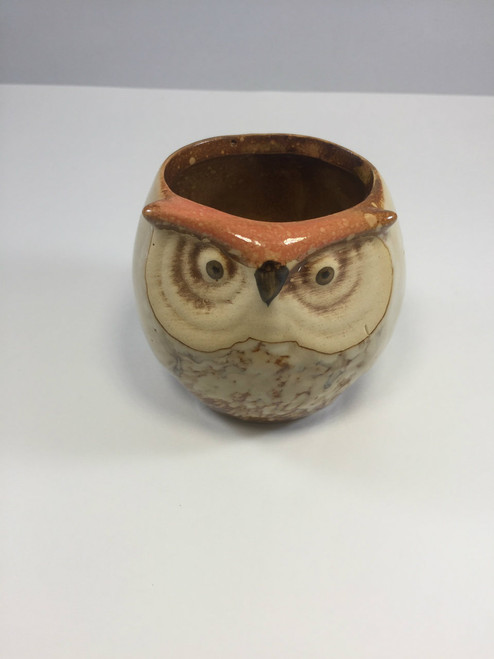 2.5 Inch Brown Owl Planter